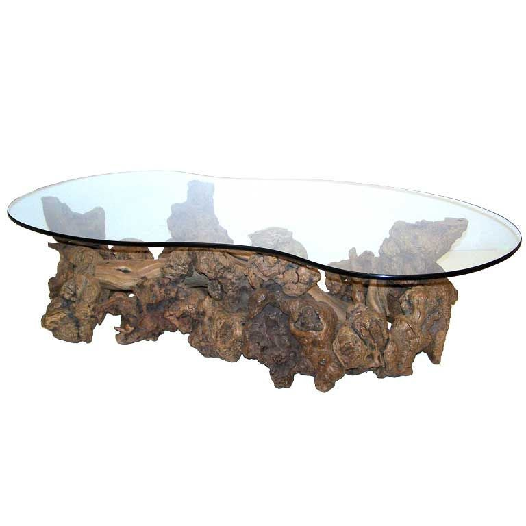 Burl Coffee Table: Burl Wood Root Coffee Table At 1stdibs