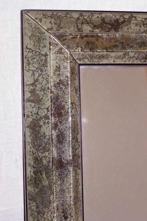Mid-Century Modern Large Mid Century Italian Marbleized Mirror For Sale