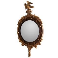 19th Century Federal Style Convex Mirror