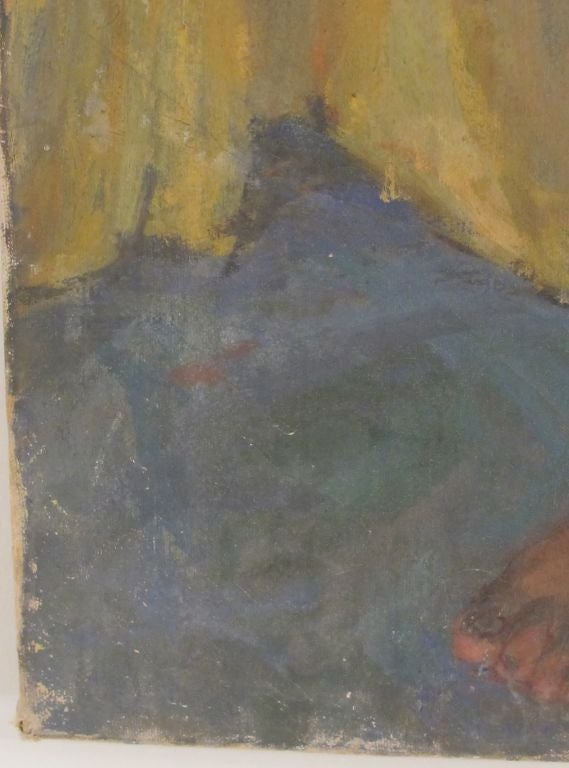 Mid-Century Modern Painting of a Nude Woman, American Mid 20th Century For Sale