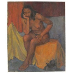 Painting of a Nude Woman, American Mid 20th Century