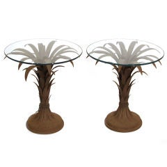 Pair of Italian Palm Frond Side Tables