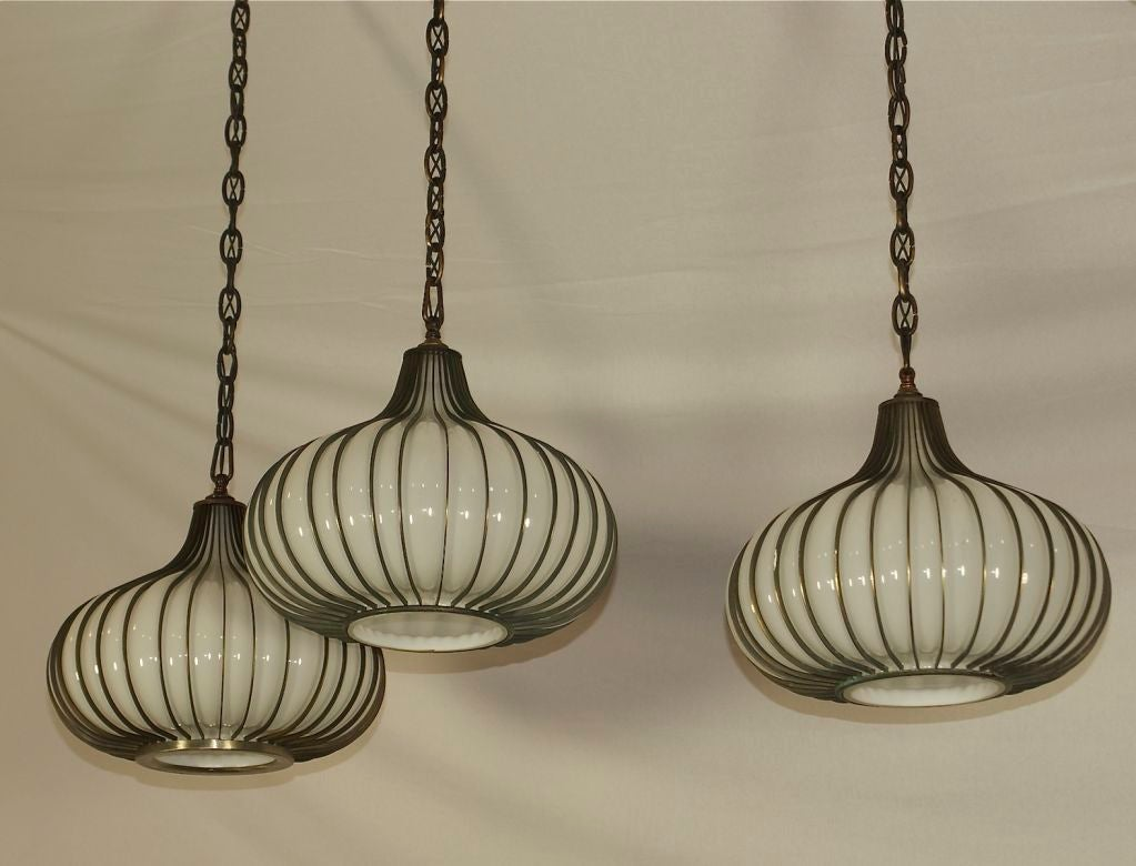 mid century modern pendant ceiling light at 1stdibs. Black Bedroom Furniture Sets. Home Design Ideas