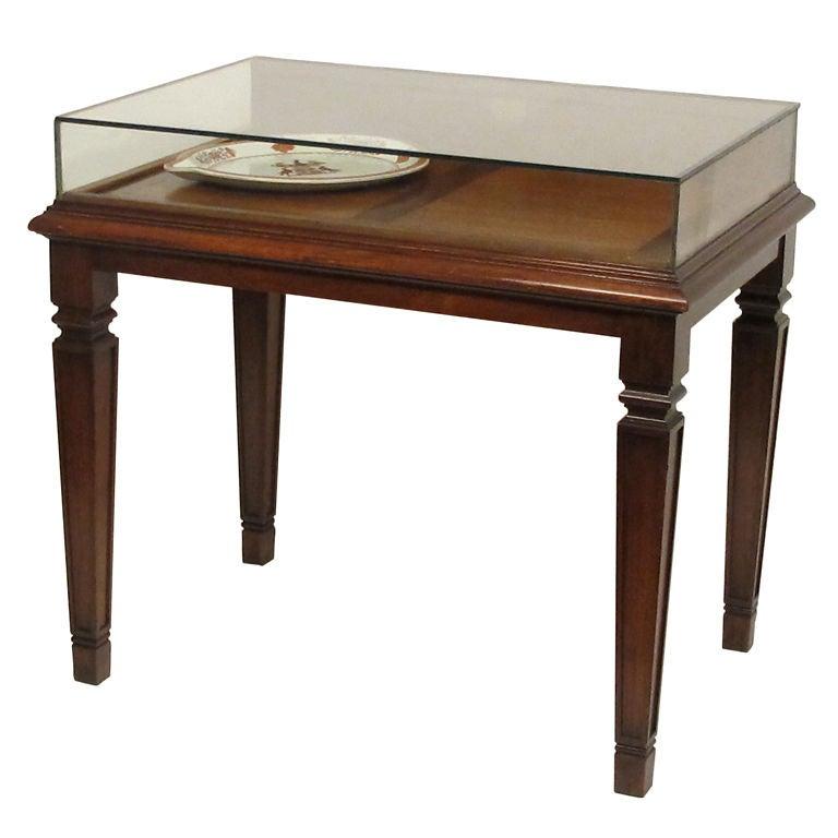Mahogany Table Display Case