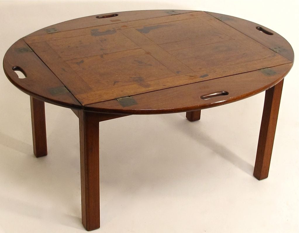 19thc english georgian butlers tray coffee table at 1stdibs for Trays on coffee tables