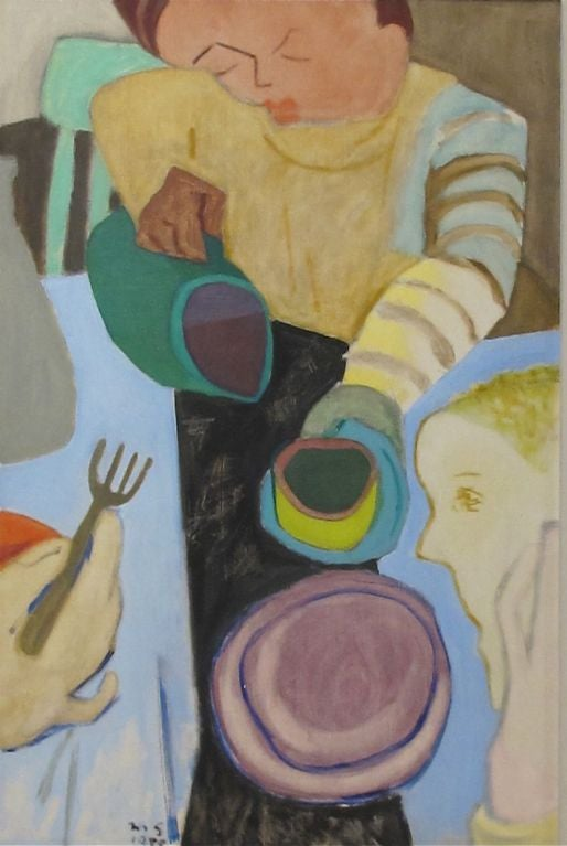American Mid Century Abstract Painting by California Artist Martin Snipper For Sale
