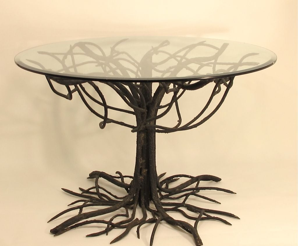 wrought iron tree base table at 1stdibs