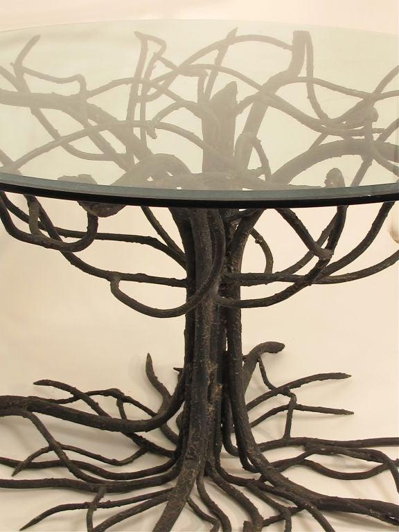 wrought iron tree base table at 1stdibs