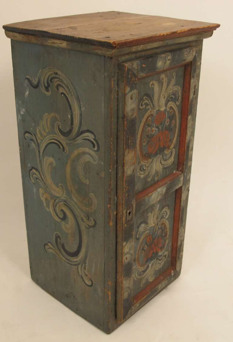 Rococo Painted Hanging Cabinet Swedish At 1stdibs
