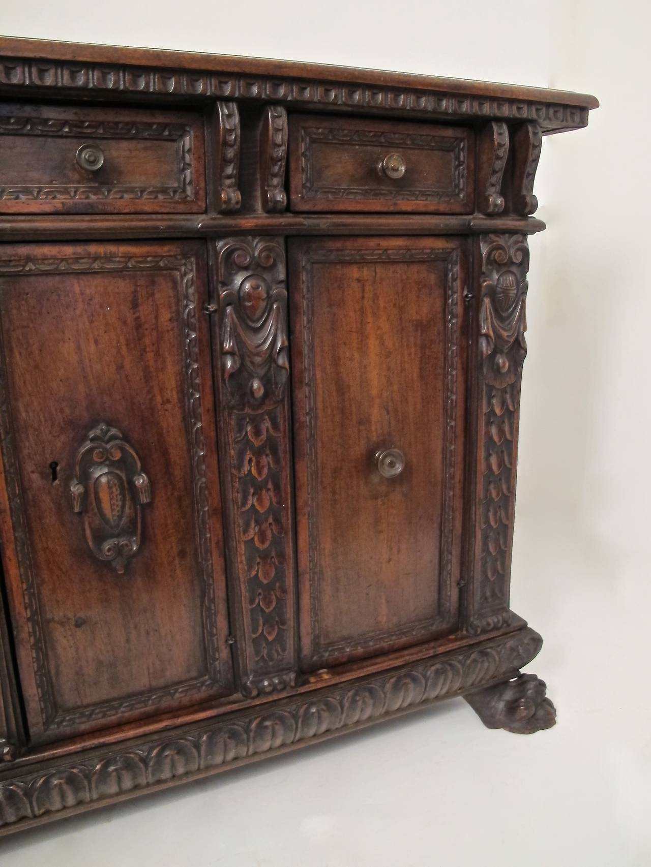 18th Century and Earlier 17th Century Italian Buffet or Credenza For Sale