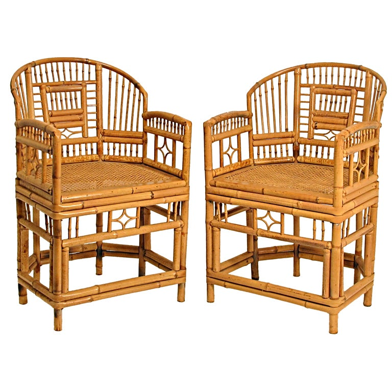 Pair of Chinese Bamboo Chairs at 1stdibs