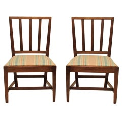 English Georgian Mahogany Dining Chairs, Set of Eight
