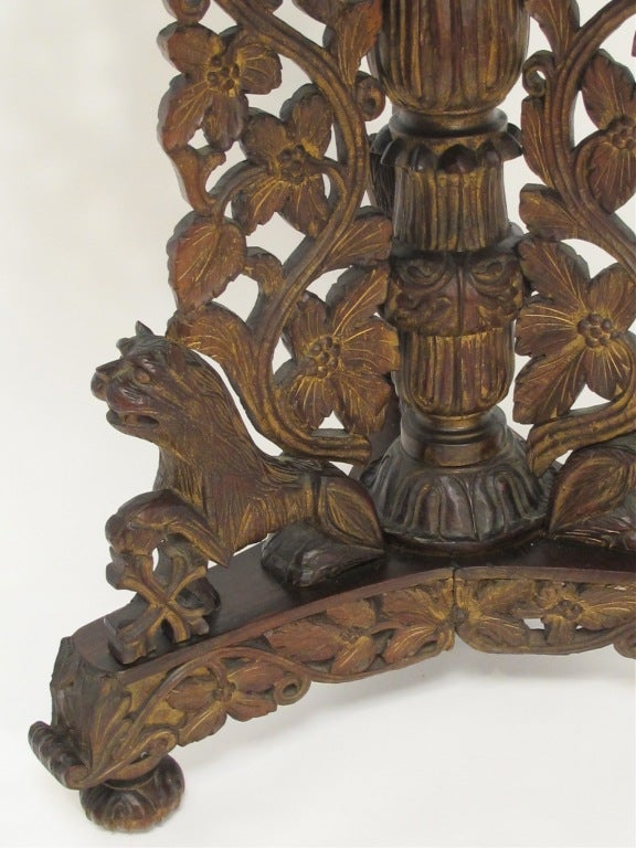 19th Century Indian Rosewood Center Table 3