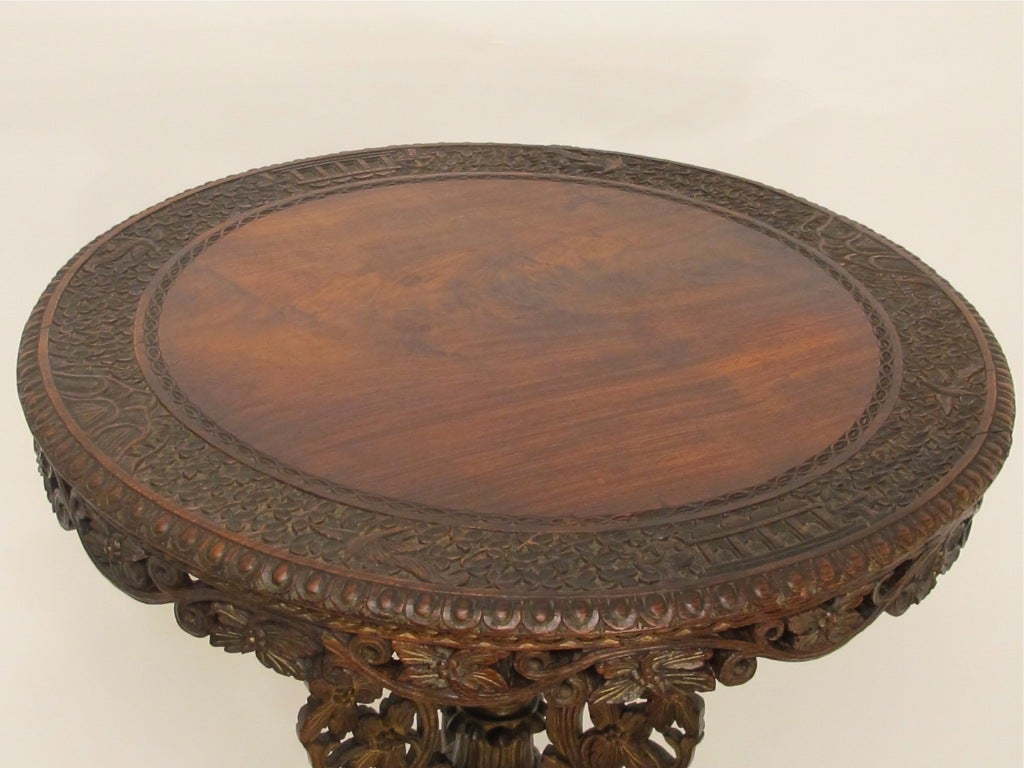 19th Century Indian Rosewood Center Table 4