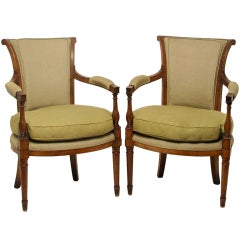 Pair of French Neoclassical Armchairs