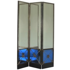 Extraordinary Maison Jansen Mirrored Screen