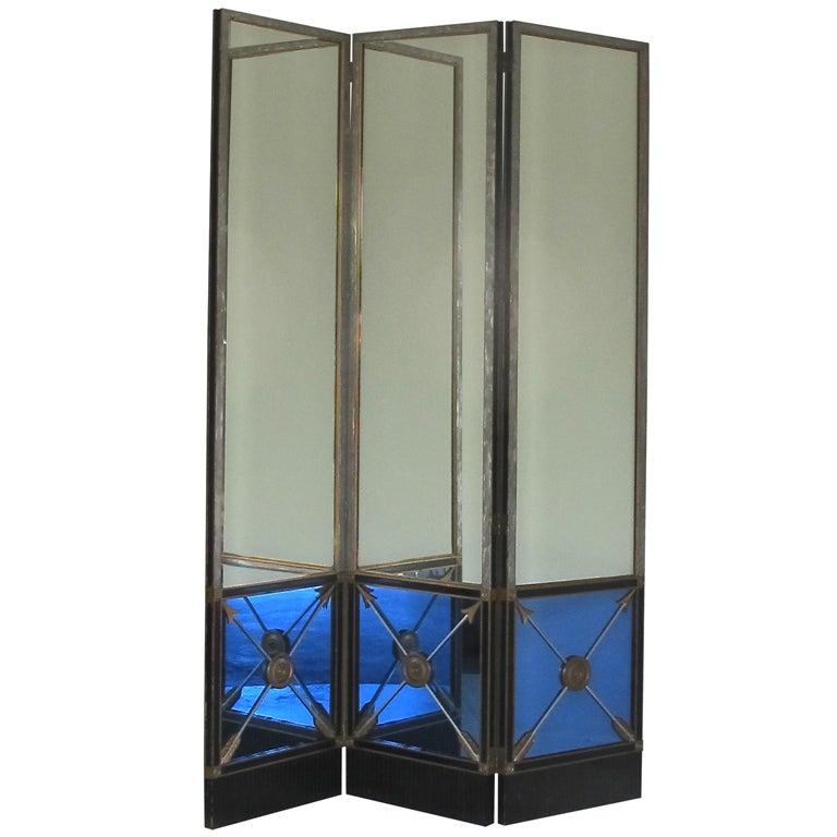 Extraordinary Maison Jansen Mirrored Screen
