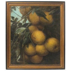 19thC Apple Tree Painting
