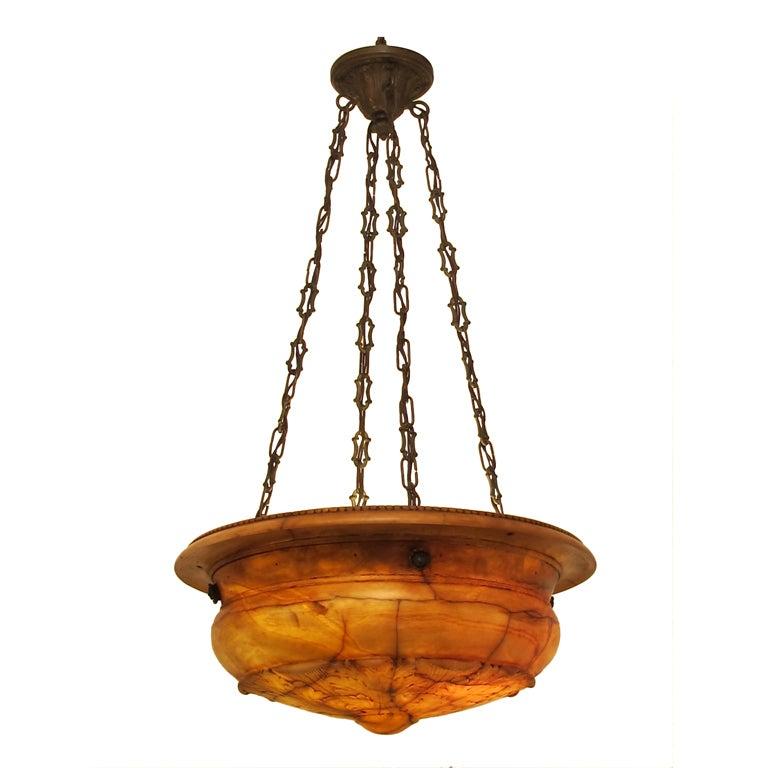 Carved Alabaster Light Fixture Chandelier at 1stdibs – Alabaster Lighting Chandeliers