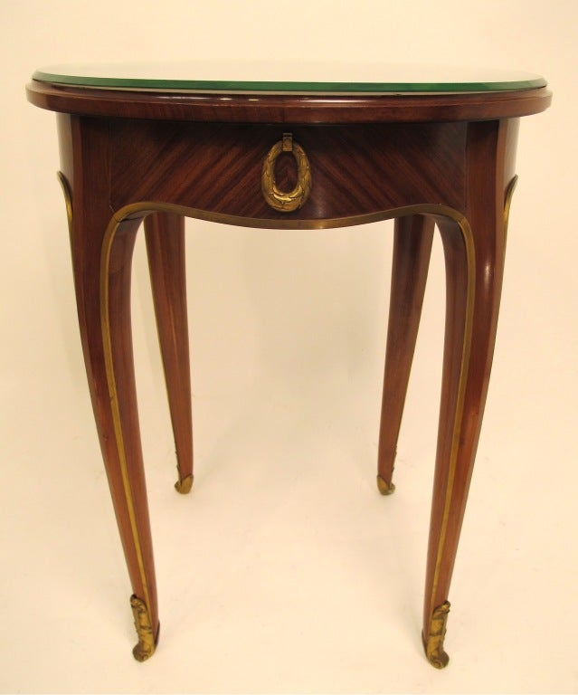French Art Deco Mahogany Side Table 2