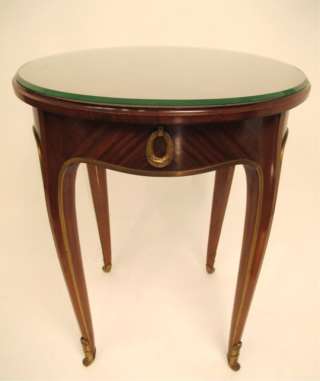French Art Deco Mahogany Side Table 3