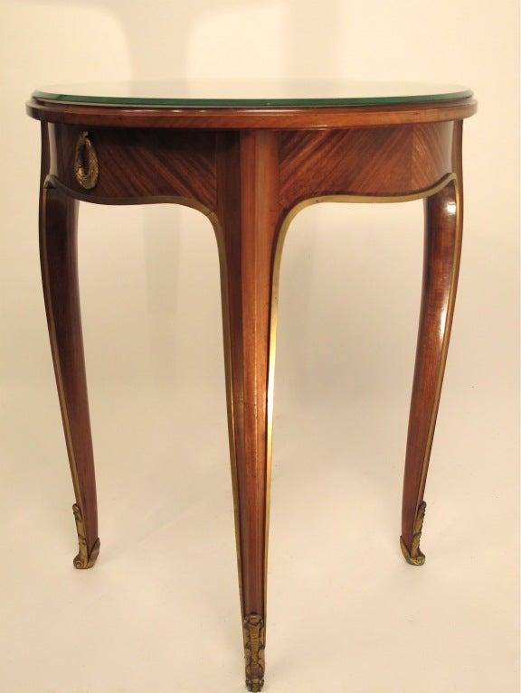 French Art Deco Mahogany Side Table 4