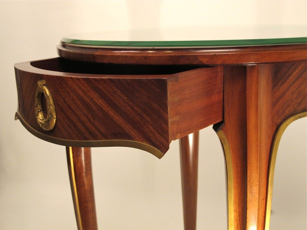 French Art Deco Mahogany Side Table 5