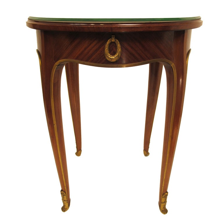 French Art Deco Mahogany Side Table 1