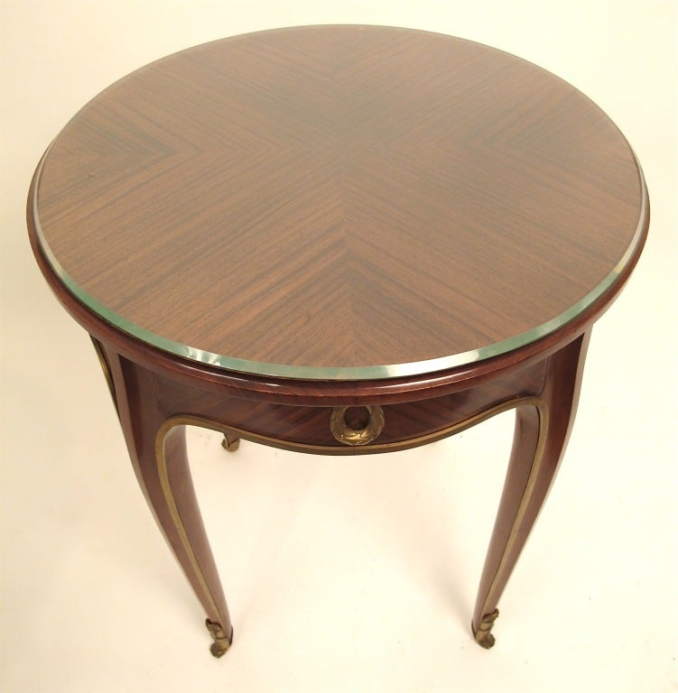 French Art Deco Mahogany Side Table 6