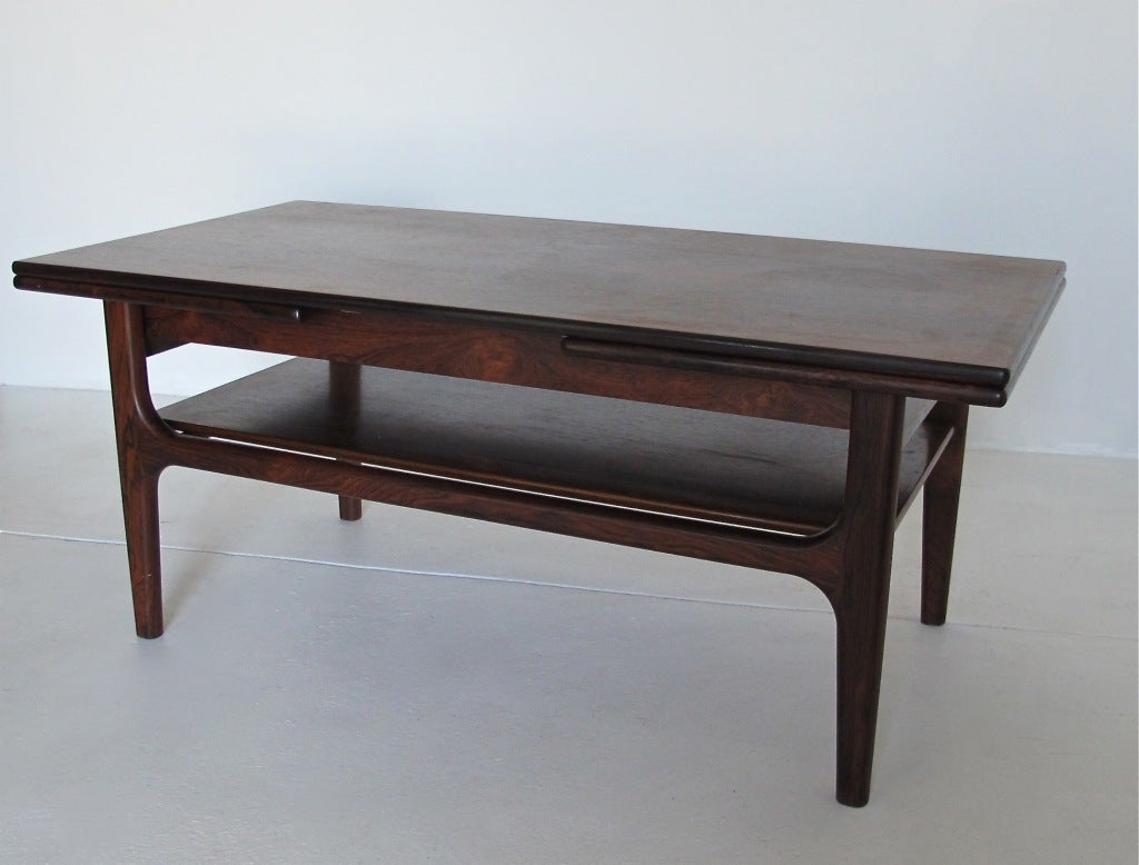 Danish modern rosewood coffee table at 1stdibs for Danish modern coffee table