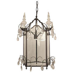 Bronze and Glass Lantern