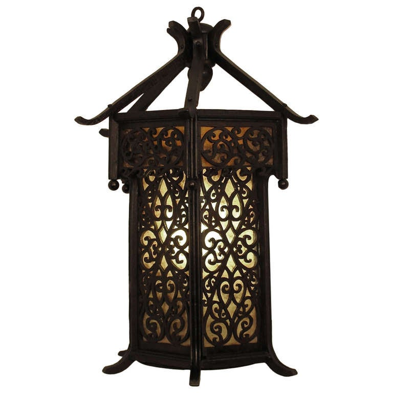 Japanese Wall Sconces: Asian Style Wood Wall Lantern/Sconce At 1stdibs