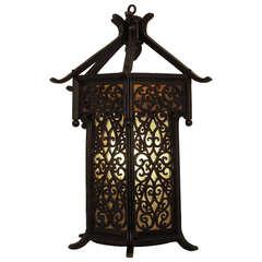 Asian Style Wood Wall Lantern/Sconce