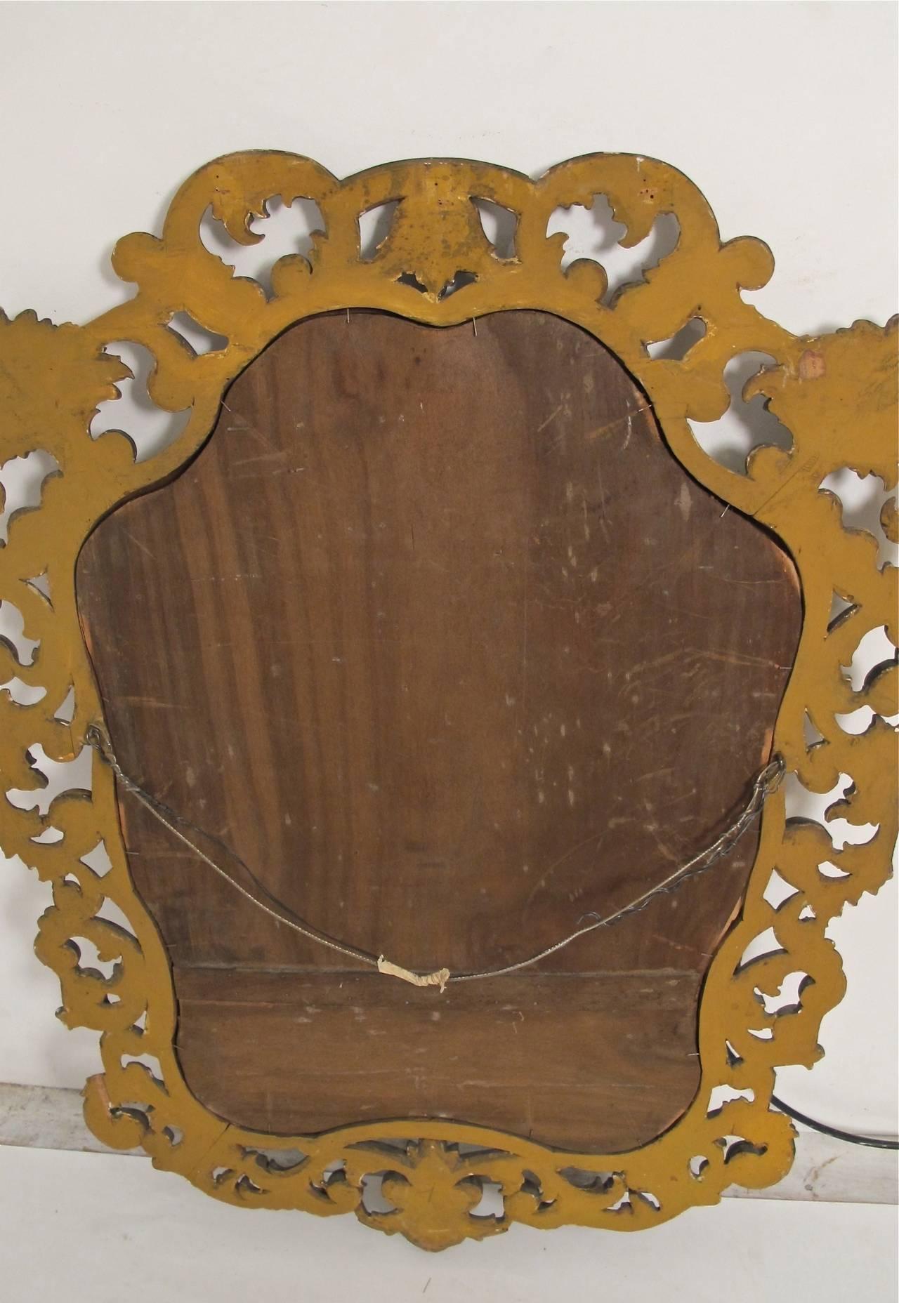 Wood Italian Rococo Style Giltwood Mirror For Sale