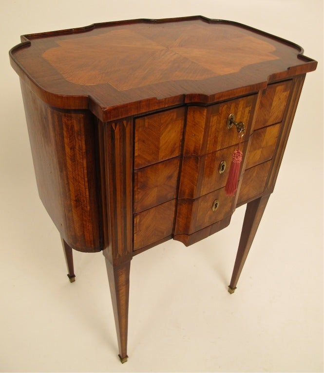 19thc french parquetry side table at 1stdibs for Bedroom furniture 94109