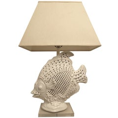Large Italian Ceramic Fish Lamp