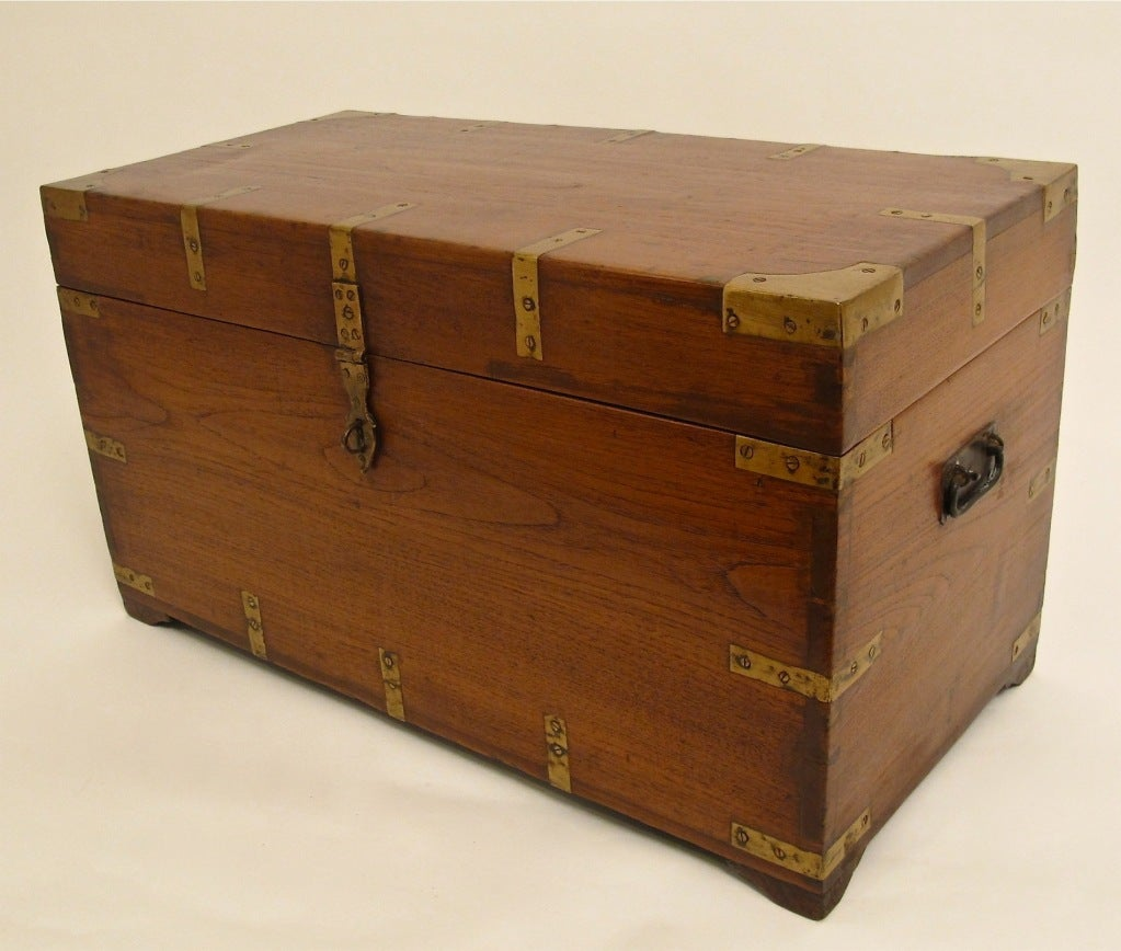 Antique Anglo-Indian Trunk At 1stdibs