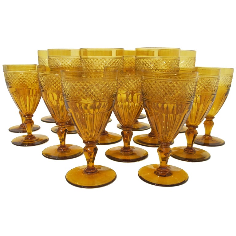 Amber Crystal Glasses For Sale