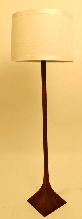 Danish Modernist Walnut Floor Lamp
