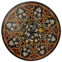 Large Italian Pietra Dura Stone Inlay Table Top