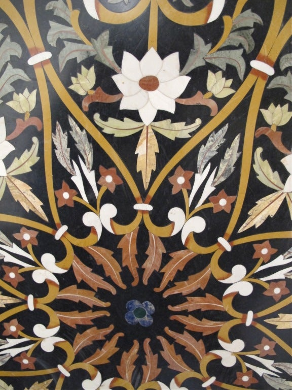 Large Italian Pietra Dura Stone Inlay Table Top 3