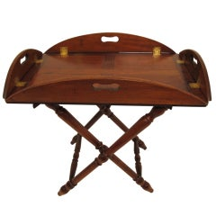 English Mahogany Butlers Tray with Stand