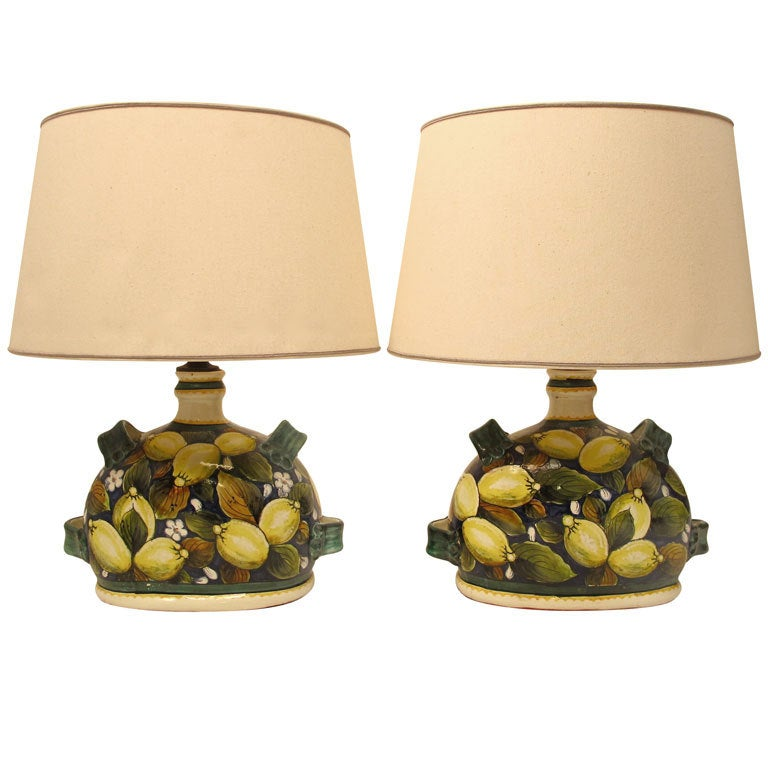 Italian faience pottery lemon lamps for sale at 1stdibs italian faience pottery lemon lamps for sale mozeypictures Image collections