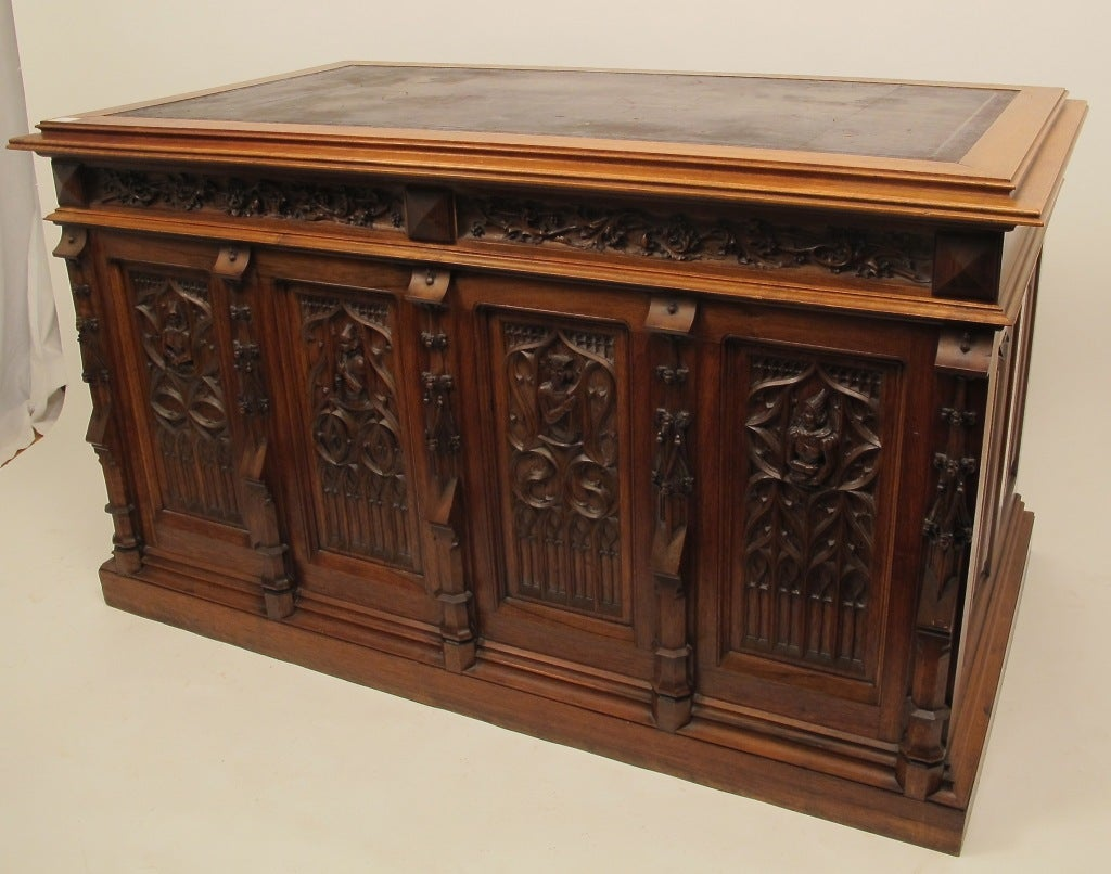English Gothic Revival Desk At 1stdibs