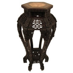 Antique Chinese Rosewood Stand