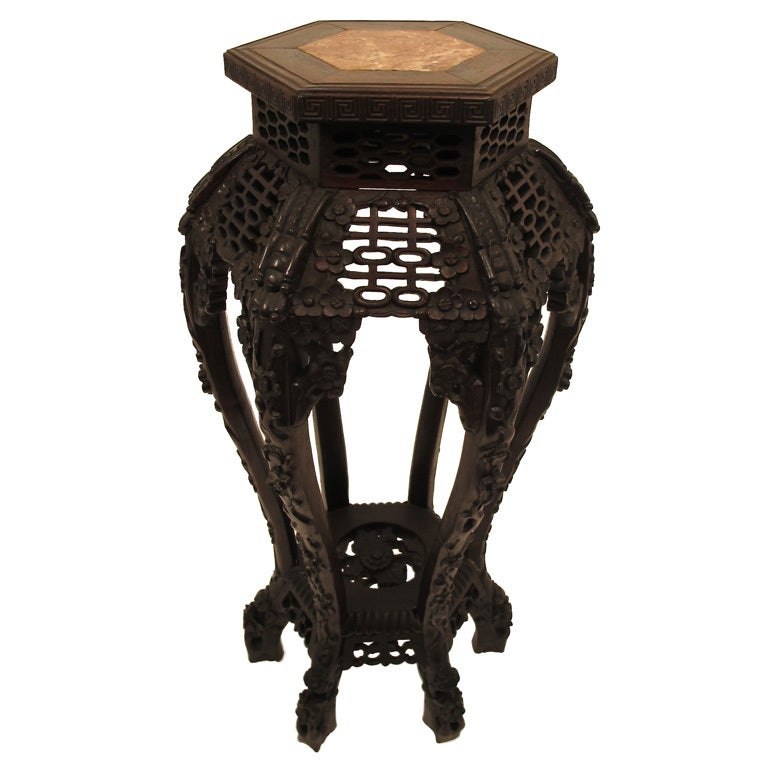 Antique Chinese Rosewood Stand At 1stdibs