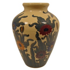Large American Painted Oil Jar