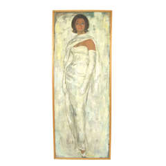 Life Size Portrait Painting by California Artist Eva Sikorsky