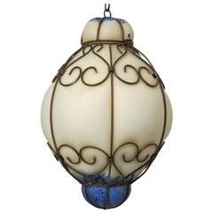 Mid Century Murano Glass Lantern
