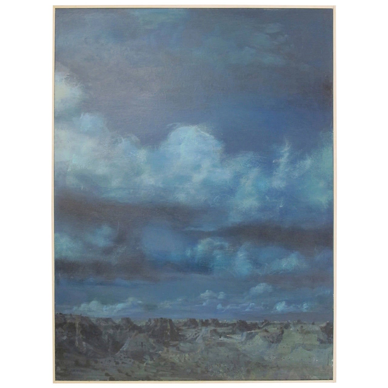 Large Modernist Landscape Painting by California Artist Walter Snellgrove For Sale